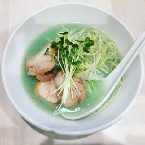 Algae Noodle Soups - Kipposhi's 'Clear Chicken Soup Blue' is Made with Spirulina and Ramen