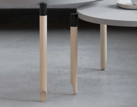 Ballerina-Inspired Coffee Tables - Muoto2's Ballet Coffee Tables Have Dancers' Feet