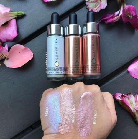 Metallic Makeup Enhancers - Cover FX's 'Custom Enhancers' Come in Three New Luminous Shades