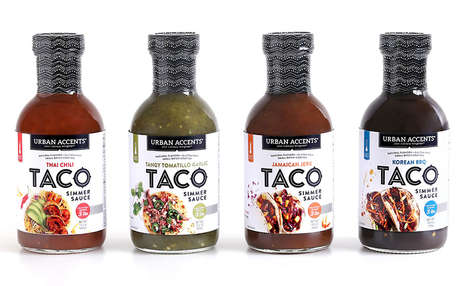 Global Flavor Preparation Sauces - The Urban Accents Taco Simmer Sauces are Easy to Use in a Meal