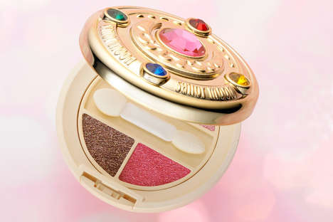 Anime Princess Eye Shadows - This Fun Sailor Moon Makeup Palette Has Four Shimmery Shades