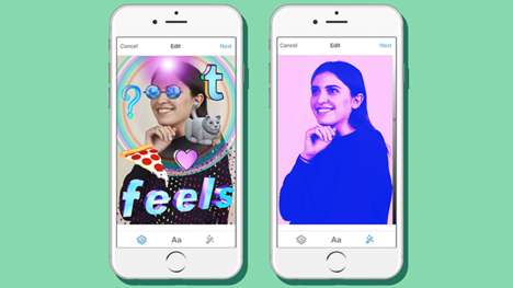 Social Media Image Enhancements - Tumblr's New Photo Filters and Stickers Allow for Personalization