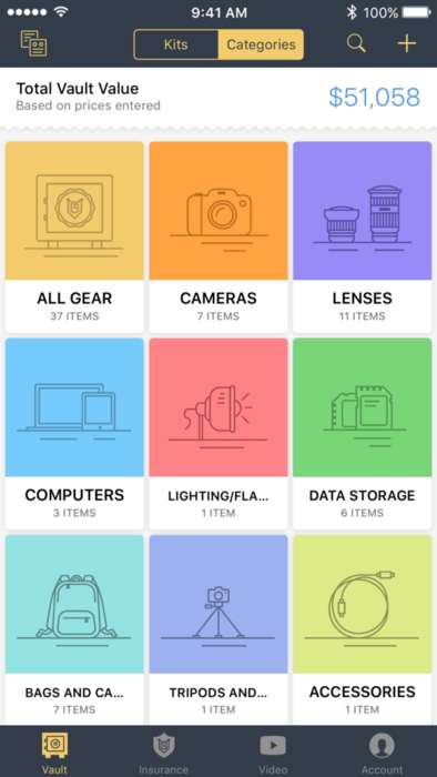 Photography Gear-Organizing Apps - MyGearVault Helps Pro Photographers Keep Track of Their Gear