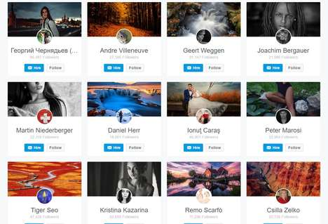 Professional Photographer Directories - The 500px Photographer Directory Gathers Thousands of Pros