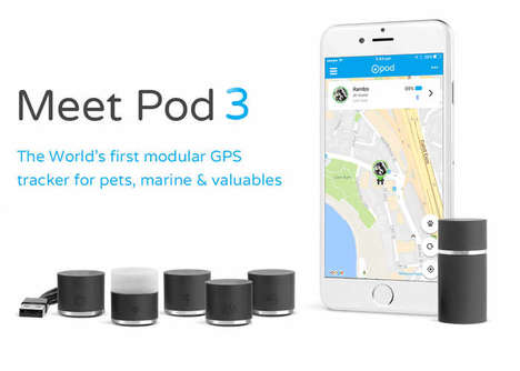 Modular Multi-Use Trackers - The 'Pod 3' GPS Tracker Works for Pets, Valuables and More