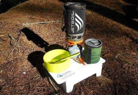 Miniature Folding Camp Tables - The Cascade Wild Ultralight Backpacking Table is Light and Slim
