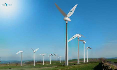 Hummingbird-Inspired Wind Turbines - The Tyer Wind Turbines Curb Noise Pollution During Operation