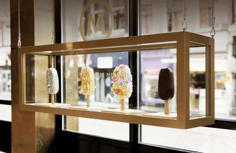 Ice Cream Dipping Bars - Magnum's New Dipping Bar Provides a Luxurious Experience for Visitors