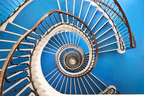 Whimsical Staircase Photography - Balint Alovits Captured Staircases from Above for His New Series