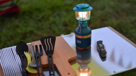 Adjustable LED Lanterns - The 'Lunar' Outdoor Camping Lantern Can Charge Devices During Illumination