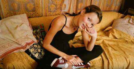 90s-Inspired Footwear Ads - adidas Recruited Kate Moss to Re-Release Its Iconic Gazelle Sneakers