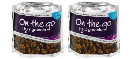 Portable Granola Breakfast Bowls - The Lizi's On the Go Granola Bowl Only Needs Water to be Added
