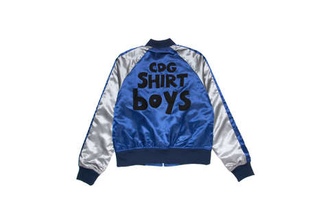 Playful Satin Bombers - The COMME des GARÇONS Shirt's Collection Features Childlike Lettering