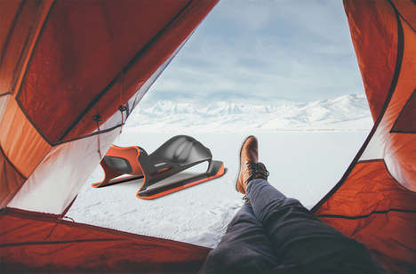 Maturely Designed Snow Sleds - This Carbon Fiber Winter Snow Sled is Lightweight and Ultra-Durable