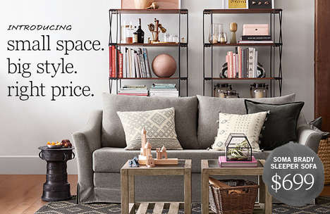 Compact Furnishing Collections - This Pottery Barn Collection Shares Furniture for Small Spaces
