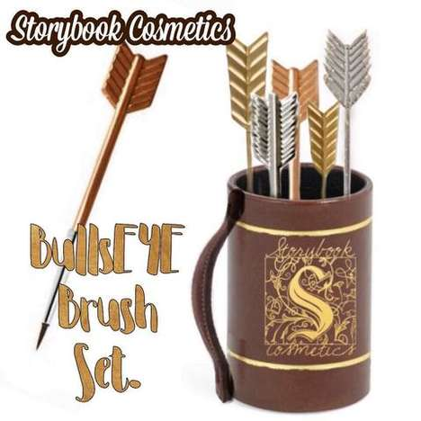 Archery-Inspired Makeup Brushes - Storybook Cosmetics is Making a Hunger Games Makeup Brush Set