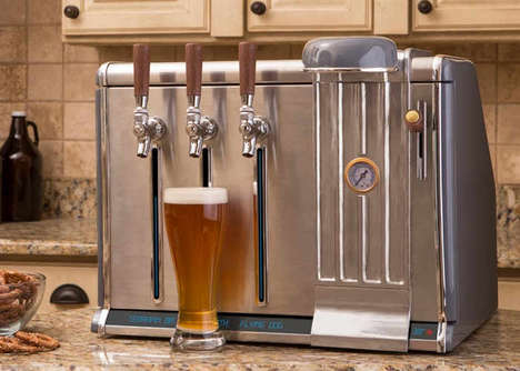 Digital Countertop Beer Taps - The 'Growler Chill' Keeps Three Growlers Cold and Carbonated