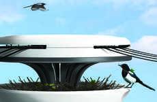 Avian Power Line Nests - The 'Nest Pole' Offers a Sanctuary for Birds on Power Line Poles