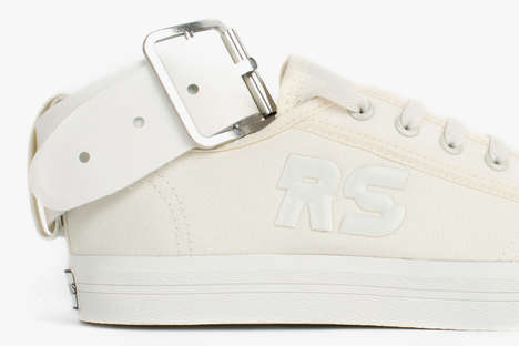 Adjustable Buckle Sneakers - These adidas and Raf Simons Sneakers are Topped Off with a Large Buckle