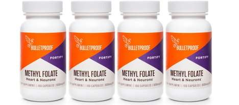 Organ-Supporting Supplements - Bulletproof Methyl Folate Pill Supplements Help the Brain and Heart