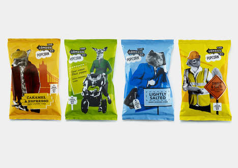 Personified Animal Packaging - These Popcorn Packages Reveal Anthropomorphic Stereotypes