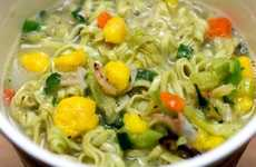 Green Tea Noodle Cups - The Newest Nissin Cup Noodle Flavor is 'Matcha Seafood'