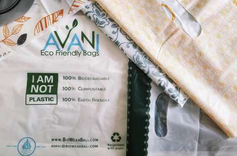 Dissolvable Eco Bags - The Brand 'Avani' Created Eco Bags to Take the Place of Plastic Ones
