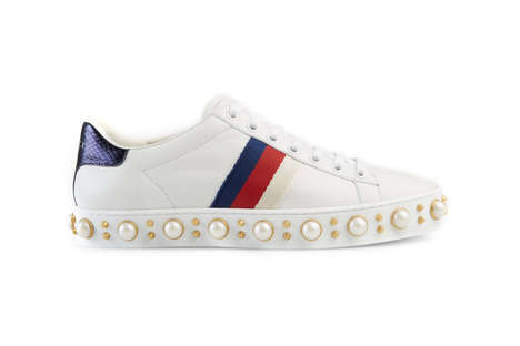 Pearl-Studded Sneakers - These New Gucci Sneakers Feature Boldly Luxurious Accents