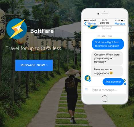 AI-Powered Airfare Agents - 'BoltFare' Offers a Convenient Way to Make Intelligent Travel Bookings