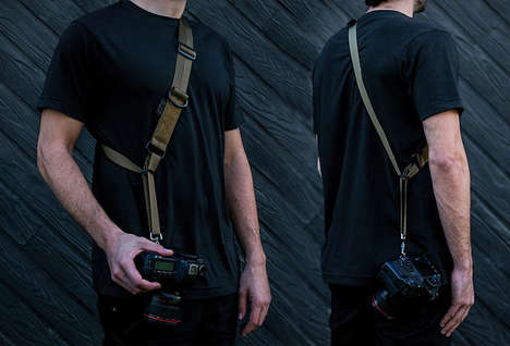 Military-Inspired Camera Straps - The Colfax Design Works Camera Sling Strap is Made in the USA