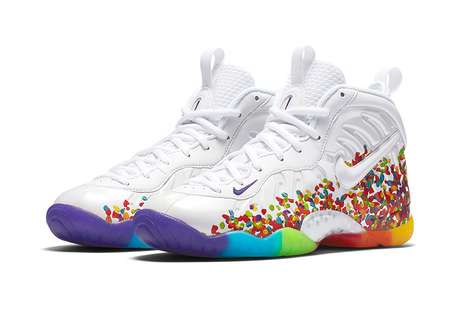 Cereal-Inspired Sneakers - The Nike Little Posite Pro 'Fruity Pebbles' Sneakers are Colorful