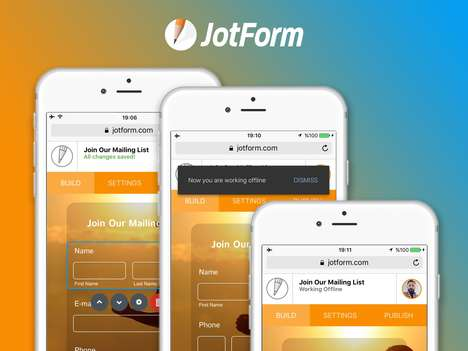 Mobile Form-Building Apps - 'JotForm 4.0' Lets Users Build Forms without the Need for a Computer