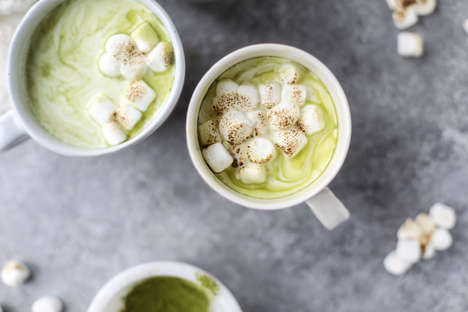 Matcha Hot Chocolates - This Hot Beverage Contains Super Caffeinated Green Tea and White Chocolate