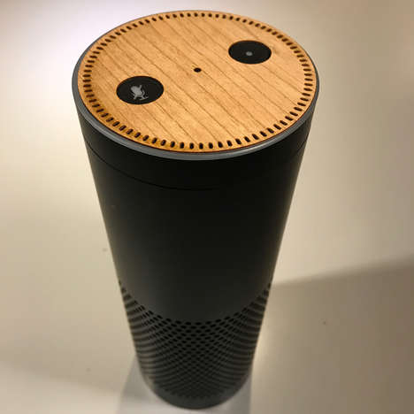 AI Device Adornments - Lazerwood Makes Wooden Skins for the Amazon Echo and Echo Dot