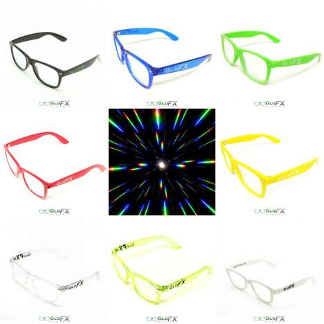 Concert-Enhancing Glasses - The 'GloFX' Diffraction Glasses Increase Visual Experiences