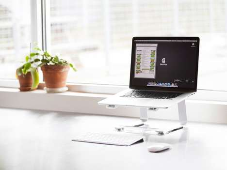 Ergonomic Laptop Holders - The Griffin Technology Elevator Laptop Lift Stand is Stylish