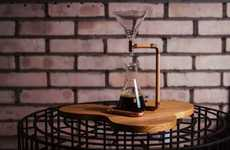 Scientific Coffee Brewers - The 'G-Drip' Pour Over Coffee Maker Optimizes the Flavor of Brews
