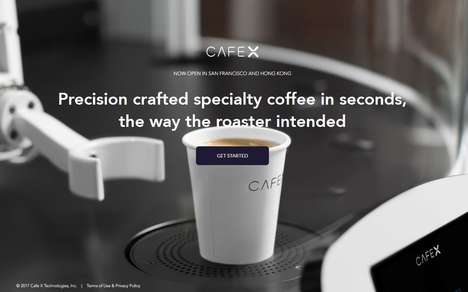 Robotic Cafe Baristas - 'Cafe X' Features Coffee Prepared by Industrial Robots