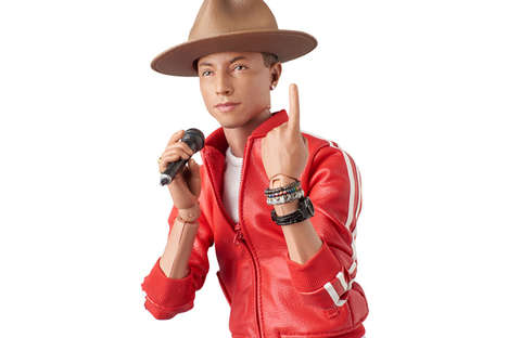 Miniature Singer Figurines - This Pharrell Williams Action Figure Looks Just Like the American Star