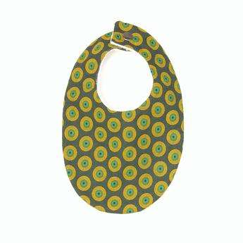 Cultural Fabric Baby Bibs - loskop Bibs are Made Using Traditional South African Shweshwe Fabric