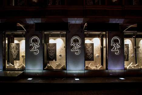 Minimalist Winter Retail Windows - The Store Q25 Offers Simple Retail Displays