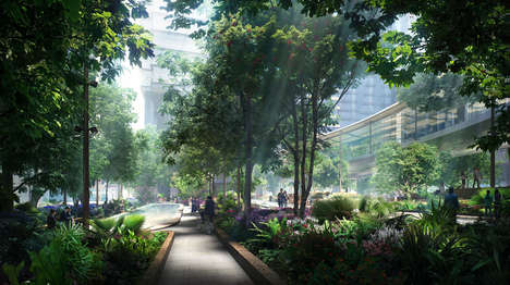 Biodiverse Public Parks - Hong Kong's Taikoo Place Will Foster Native Flora