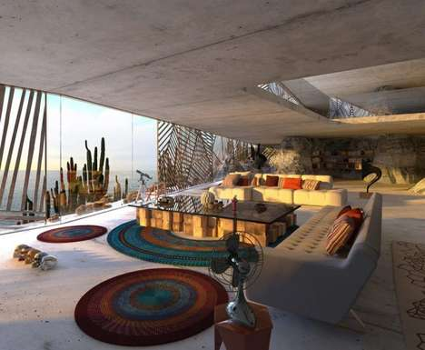 Desert Grotto Residences - Malka Architecture's 'Mugu House' Brings Natural Elements Indoors