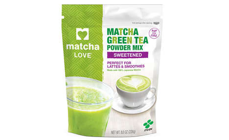 Energy-Boosting Tea Powders - The Matcha Love Sweetened Matcha Powder is for Hot and Cold Drinks