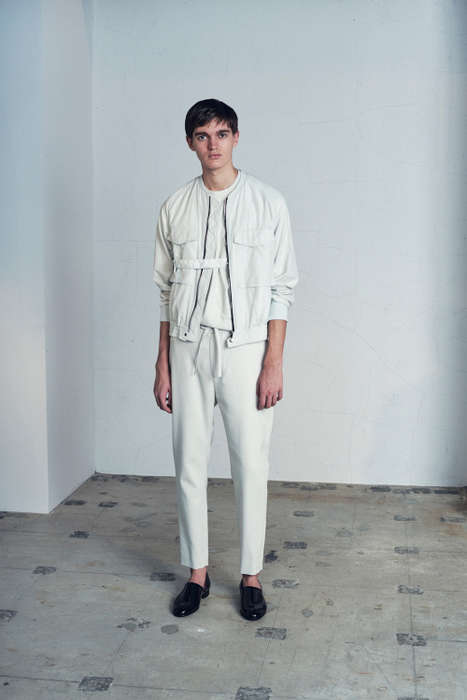 Overtly Minimalist Menswear - This undecoratedMAN Collection Consists of Classic Monochrome Looks