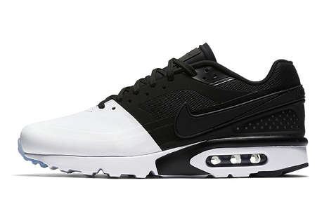 High-Contrast Color-Blocked Sneakers - Nike's New Air Max BWs Boast a Clean Black and White Colorway