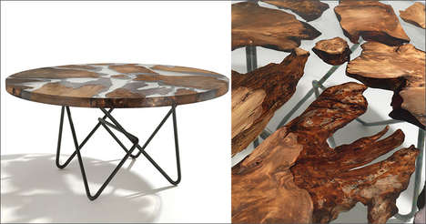 Ancient Wooden Tables - The Riva 1920 Earth Table is Made from Kauri Wood