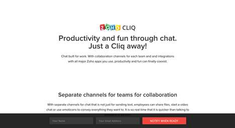 Integrated Collaborative Chat Platforms - Zoho Cliq is a Productive and Fun Chat for Work Software