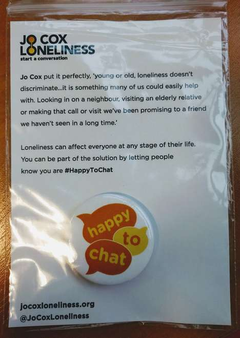 Loneliness-Fighting Badges - London Commuters will Wear 'Happy to Chat' Buttons to Urge Conversation