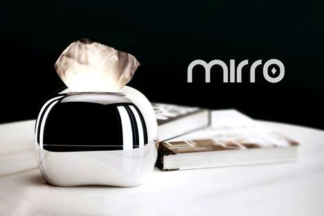 Tissue Box Illuminators - The 'Mirro' Tissue Dispenser is Outfitted with a Light within the Design